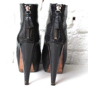 Alice + Olivia Shoes - Alice + Olivia Snakeskin Ankle Boots
